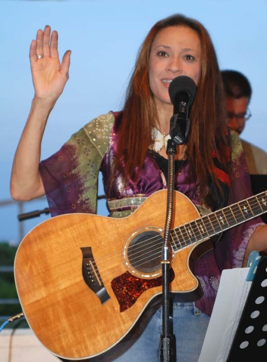 Leading Worship at Ocean Grove Summer Concert Series with my Taylor